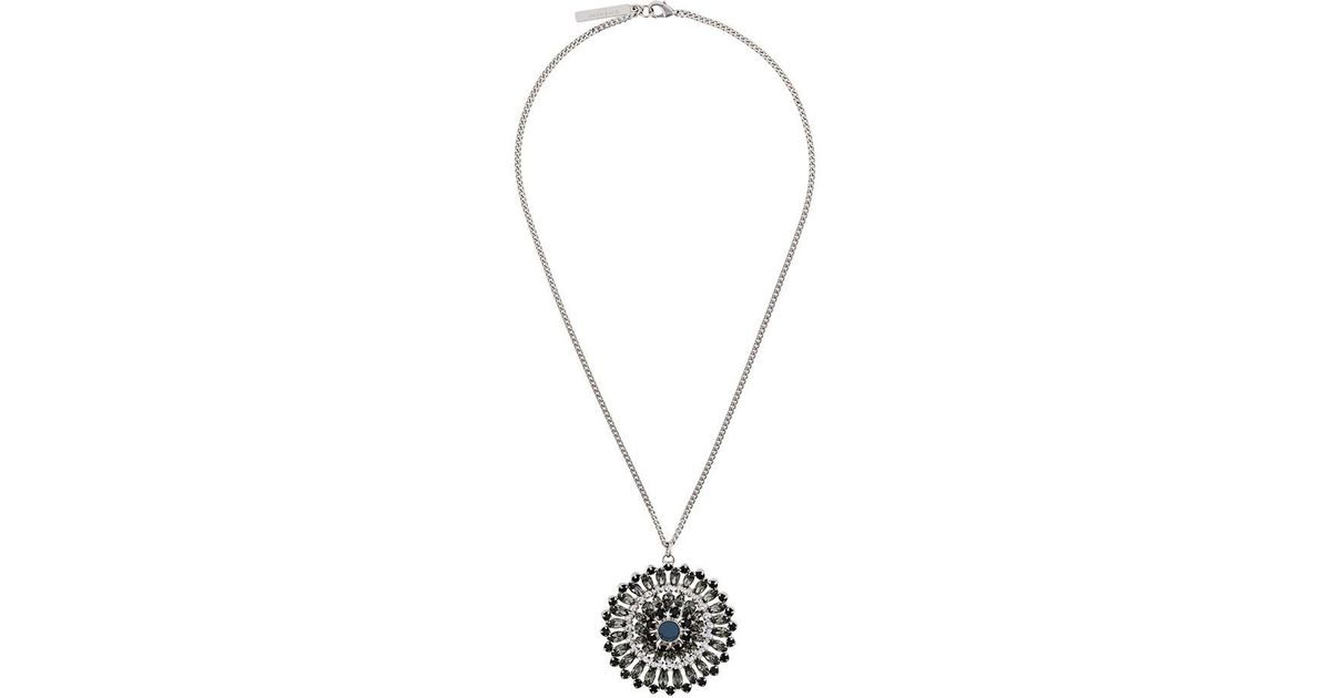 Givenchy sunflower pendant necklace in metallic lyst aloadofball Gallery
