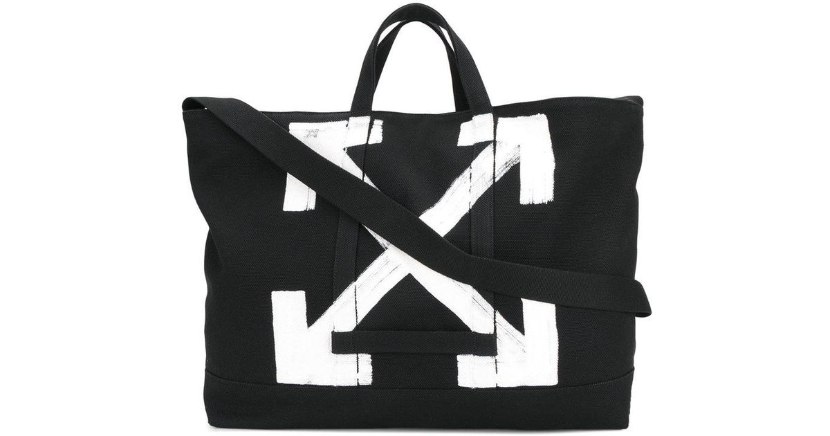 538cea4aa121 Lyst - Off-White c o Virgil Abloh Large Logo Tote Bag in Black