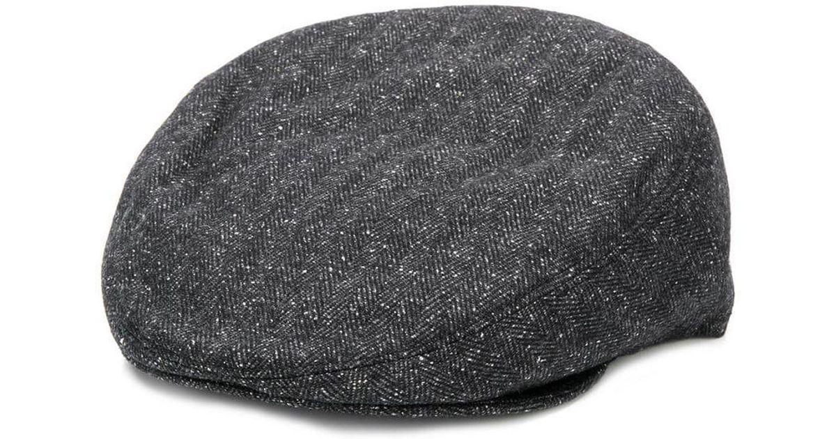 00989c65 Corneliani Classic Flat Cap in Gray for Men - Lyst