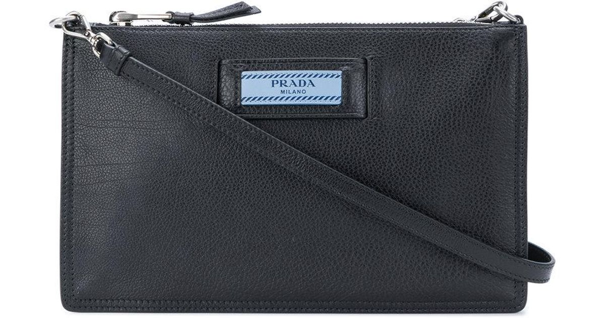d8b4c5c4df16 ... where can i buy lyst prada small etiquette shoulder bag in black f66e0  29c6c