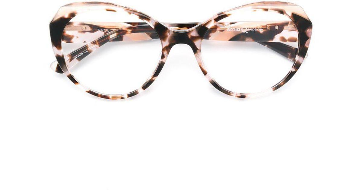 c588835971 Etnia Barcelona Tivoli Oversized Round Glasses in Brown - Lyst