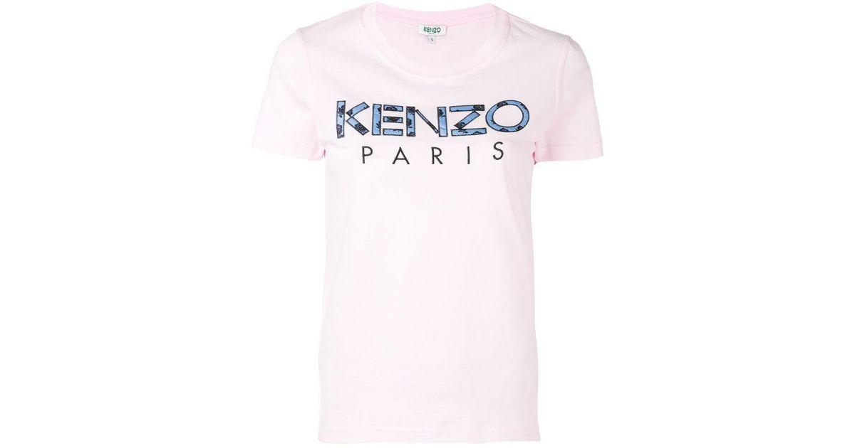 eafab5033e KENZO - Pink Logo Print T-shirt - Lyst