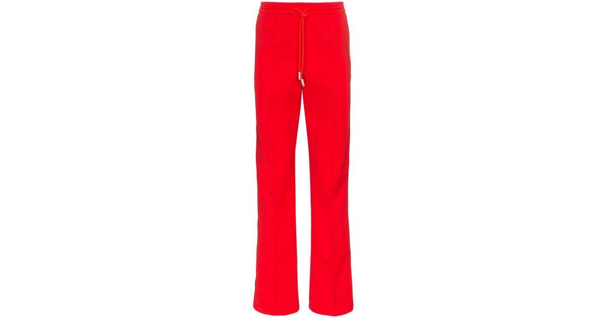 727257c6 Off-White c/o Virgil Abloh Logo Track Pants in Red for Men - Lyst
