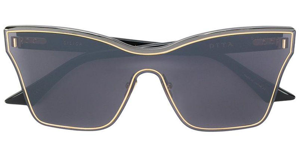 f592da449a01 Lyst - Dita Eyewear Silica Sunglasses in Black
