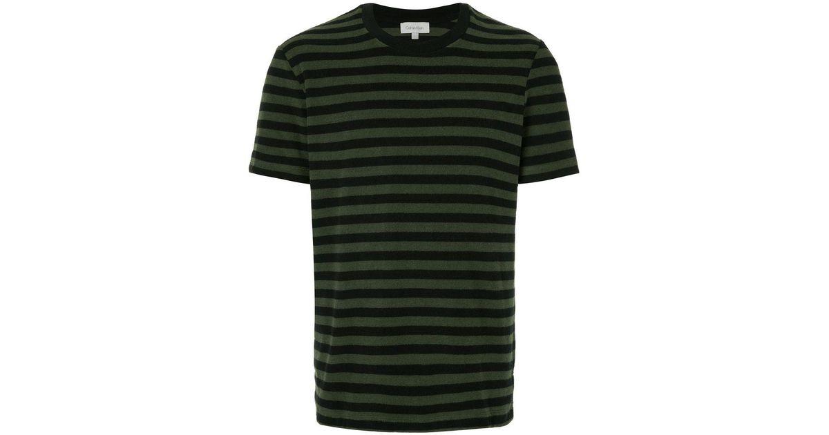 08ae6a97a2 Calvin Klein Striped T-shirt in Black for Men - Lyst