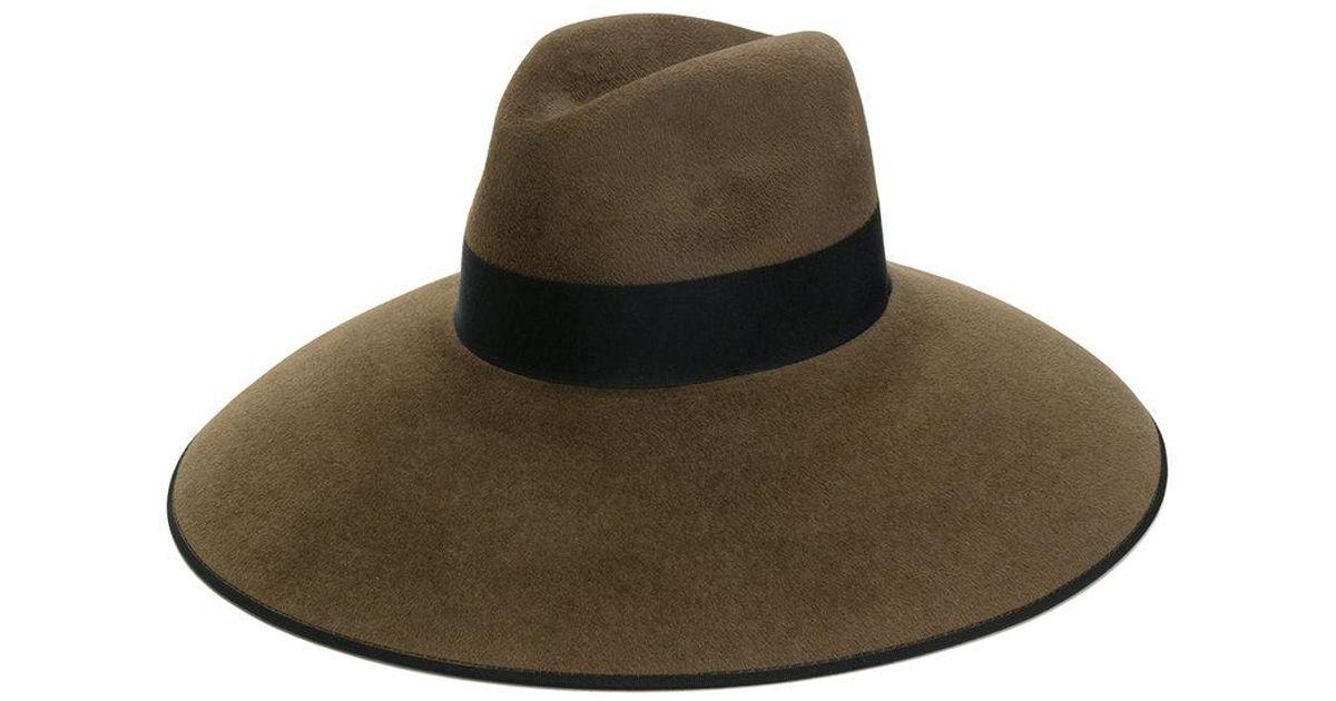8984374750c0f Lyst - Gucci Rabbit Felt Wide Brimmed Hat in Brown for Men