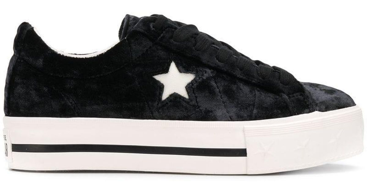 85534306d3e3 Lyst - Converse One Star Platform Sneakers in Black
