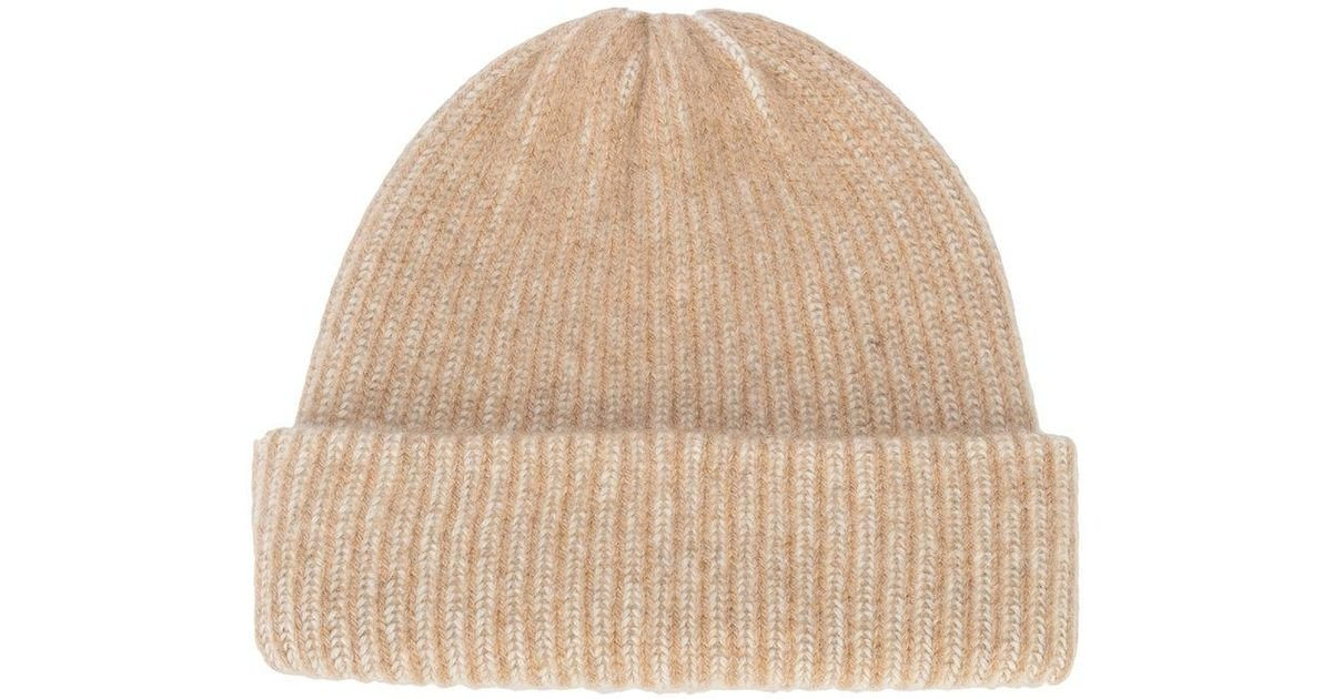 94fc2d6875c6c7 Lyst - The Elder Statesman Cashmere Watchman Hat in Natural - Save 5%