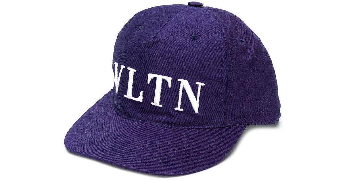 Valentino Garavani VLTN embroidered cap - Blue Valentino 1QdiXw4SM