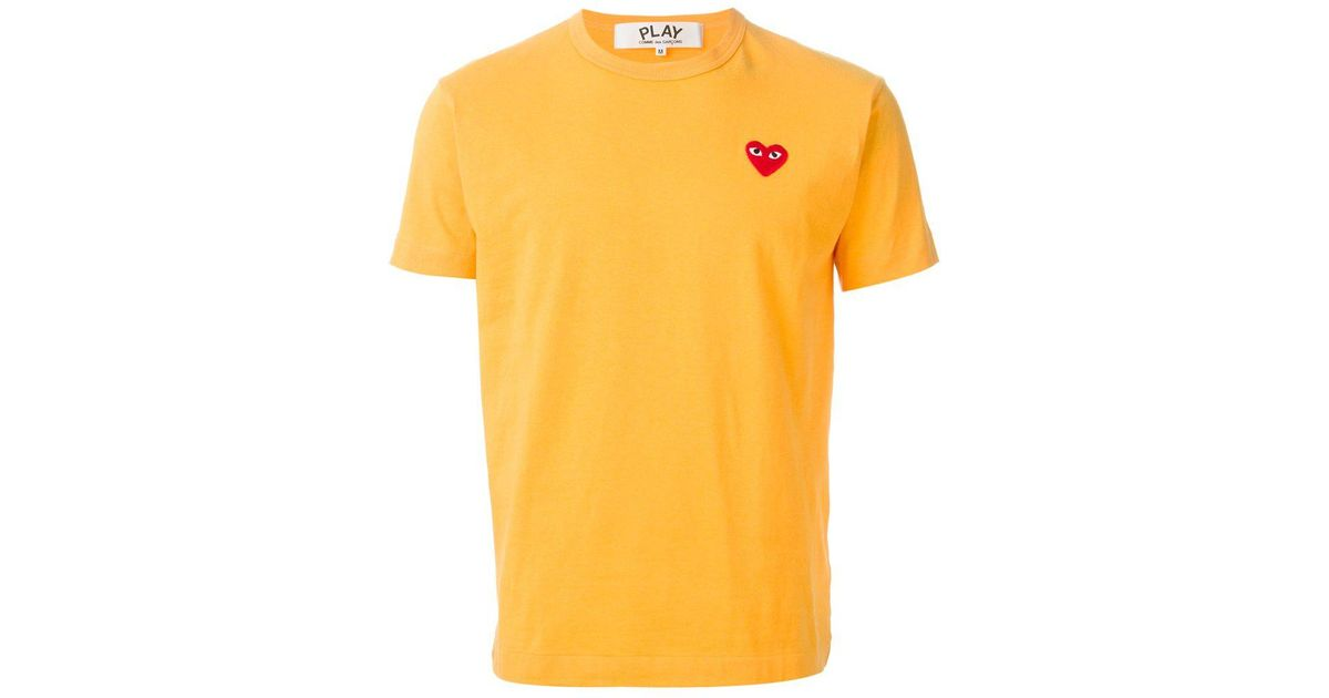 2ae280ac0c COMME DES GARÇONS PLAY 'play Colour Series' T-shirt in Yellow for Men -  Save 22% - Lyst