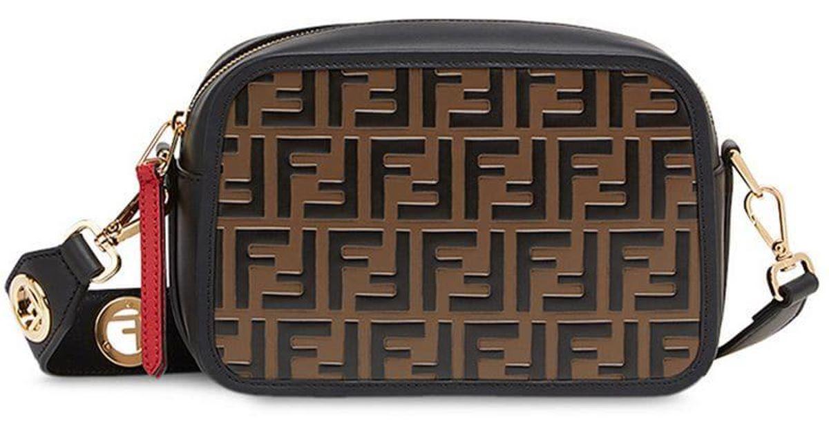 bc35c796ab31 Fendi Camera Case Crossbody Bag in Black - Lyst