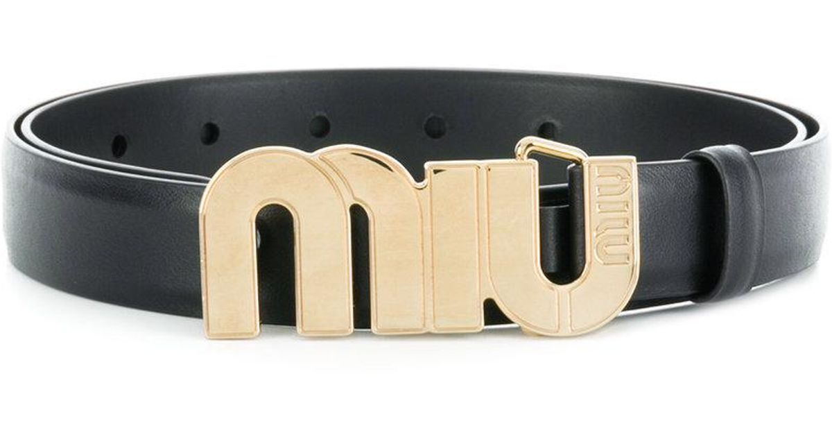 logo plaque belt - Black Miu Miu fbVDSywSX