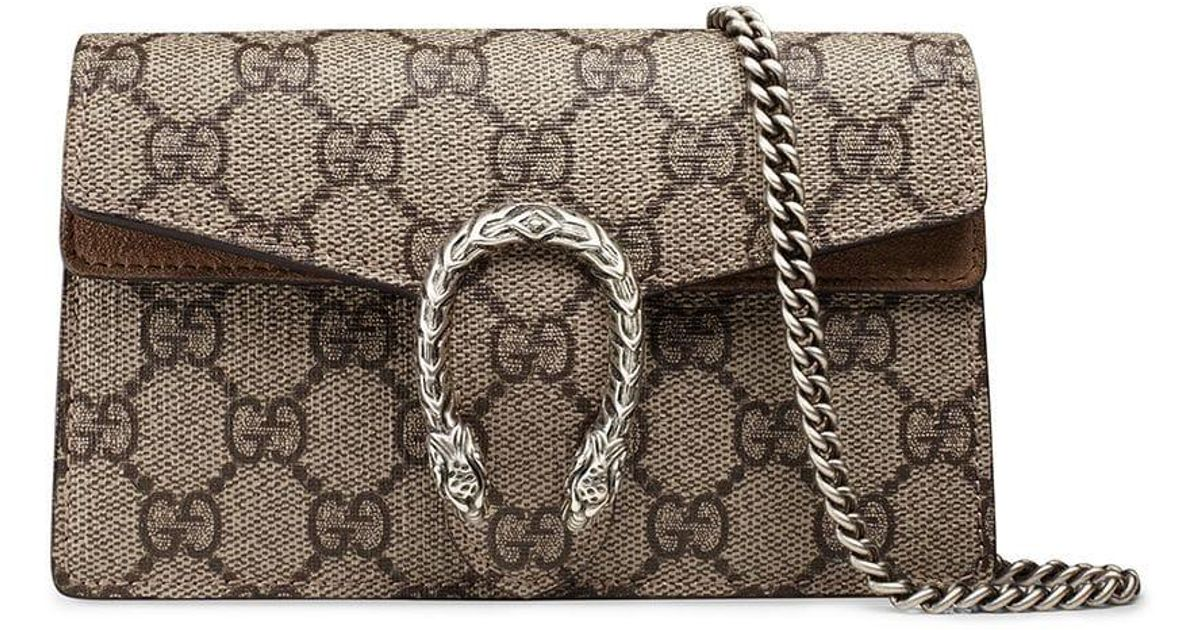 8814eae93 Gucci Dionysus GG Supreme Super Mini Bag - Save 14% - Lyst