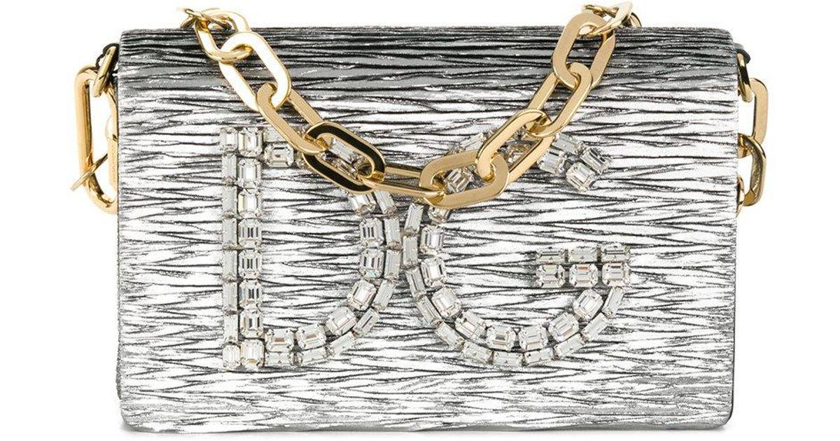 Lyst - Dolce   Gabbana Dg Girls Shoulder Bag in Metallic df6146d85efba