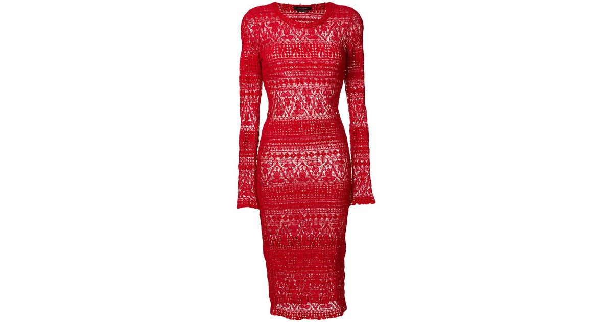 lace pencil dress - Red Isabel Marant WGsFuUC