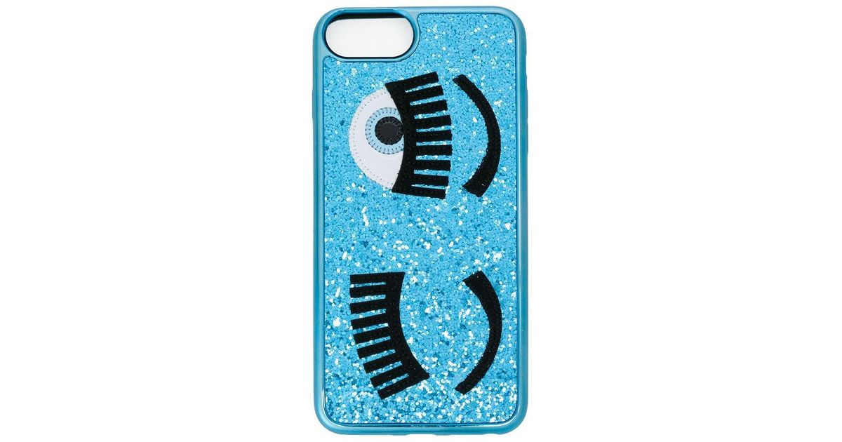 7120a878c88 Funda para iPhone 6 Plus Flirting con purpurina Chiara Ferragni de color  Azul - Lyst