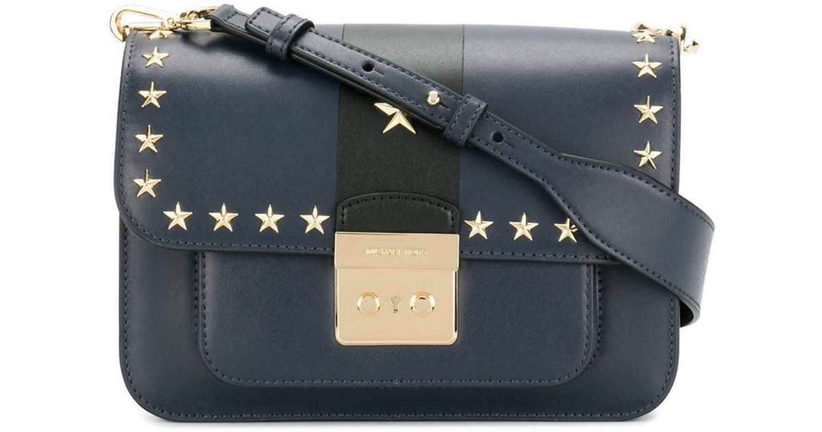 0080ec2d35f77 Lyst - MICHAEL Michael Kors Star Studded Shoulder Bag in Blue