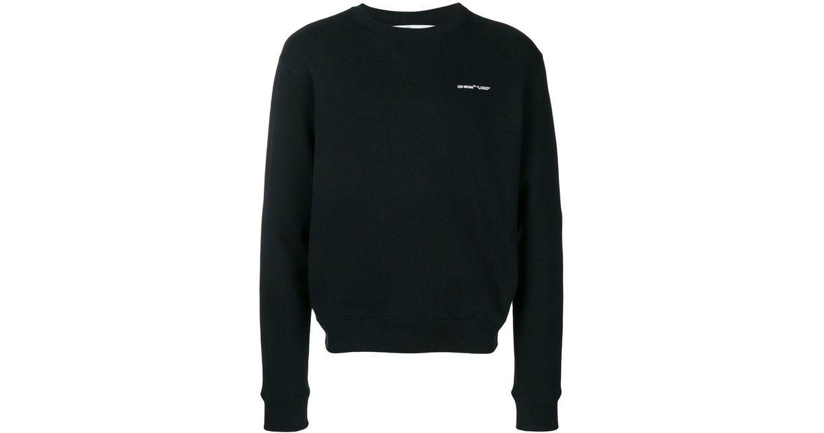 2967cffa7245 Lyst - Off-White c o Virgil Abloh Logo Print Sweatshirt in Black for Men