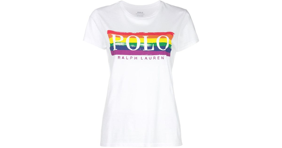 0ff5b9032 Polo Ralph Lauren Pride Logo Graphic T-shirt in White - Lyst