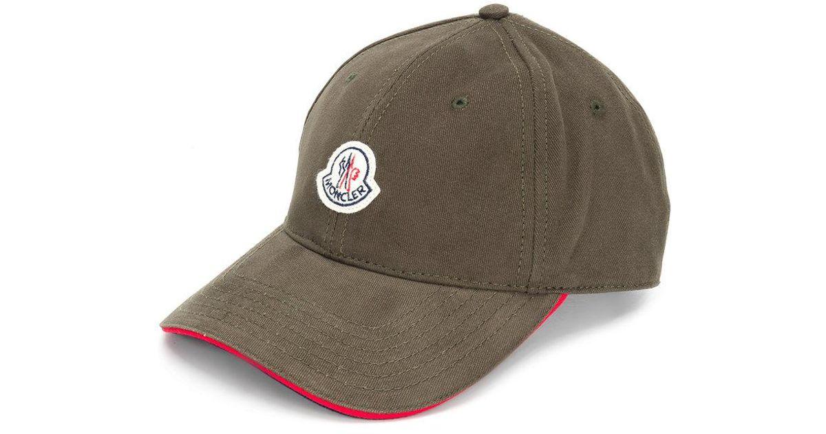 2a6719347b1 Lyst - Casquette à patch logo Moncler pour homme en coloris Vert