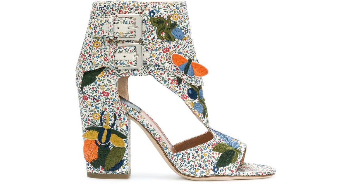 LAURENCE DACADE Embroidered high hell sandals