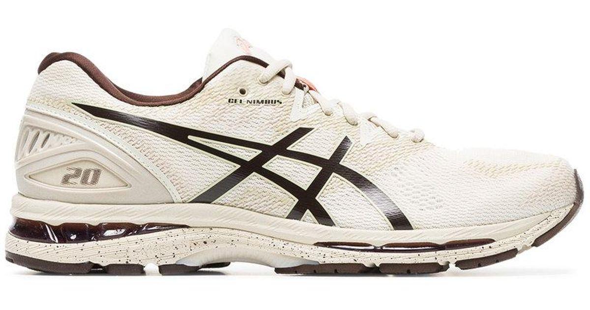 nude Gel Nimbus 20 lace-up sneakers - Nude & Neutrals Asics bp0xdL9Io