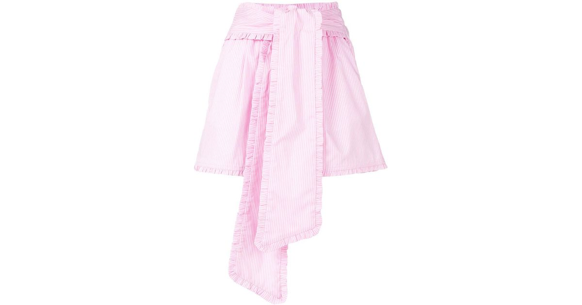 striped belted shorts - Pink & Purple Msgm Kwe1T