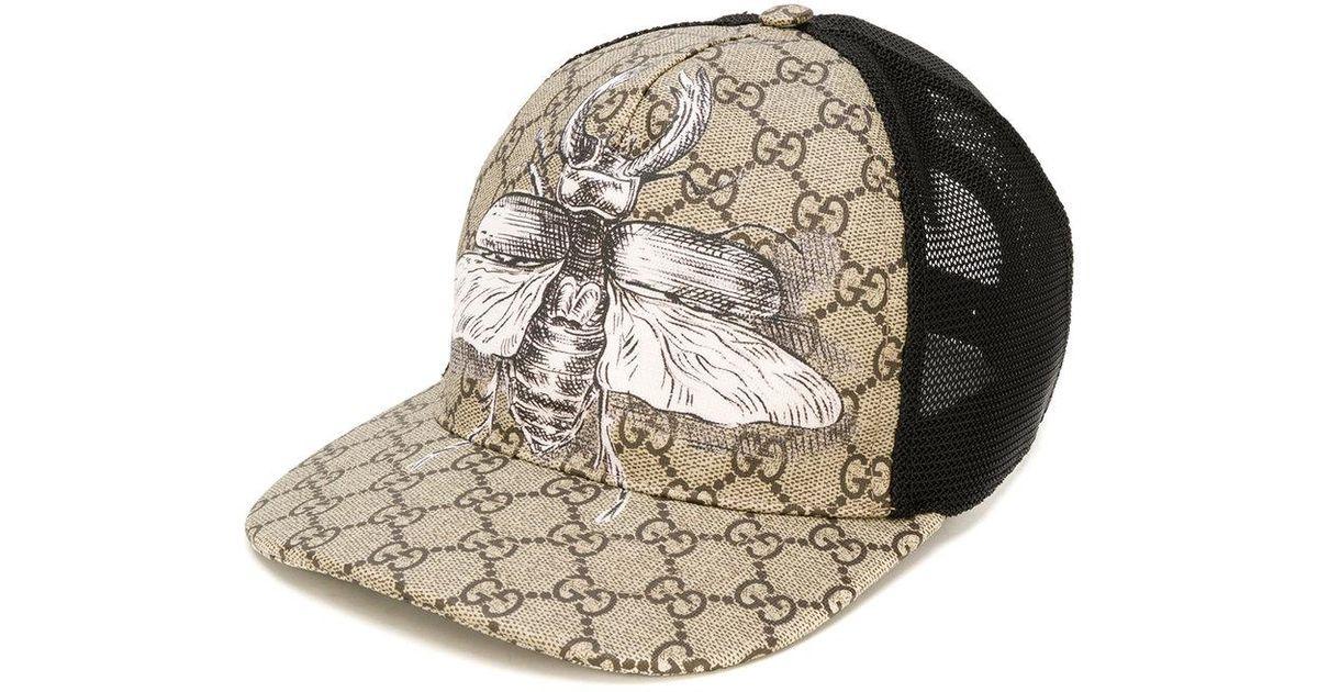 Lyst - Casquette Suprême GG à imprimé insecte Gucci pour homme en coloris  Neutre 602d5c04bb9