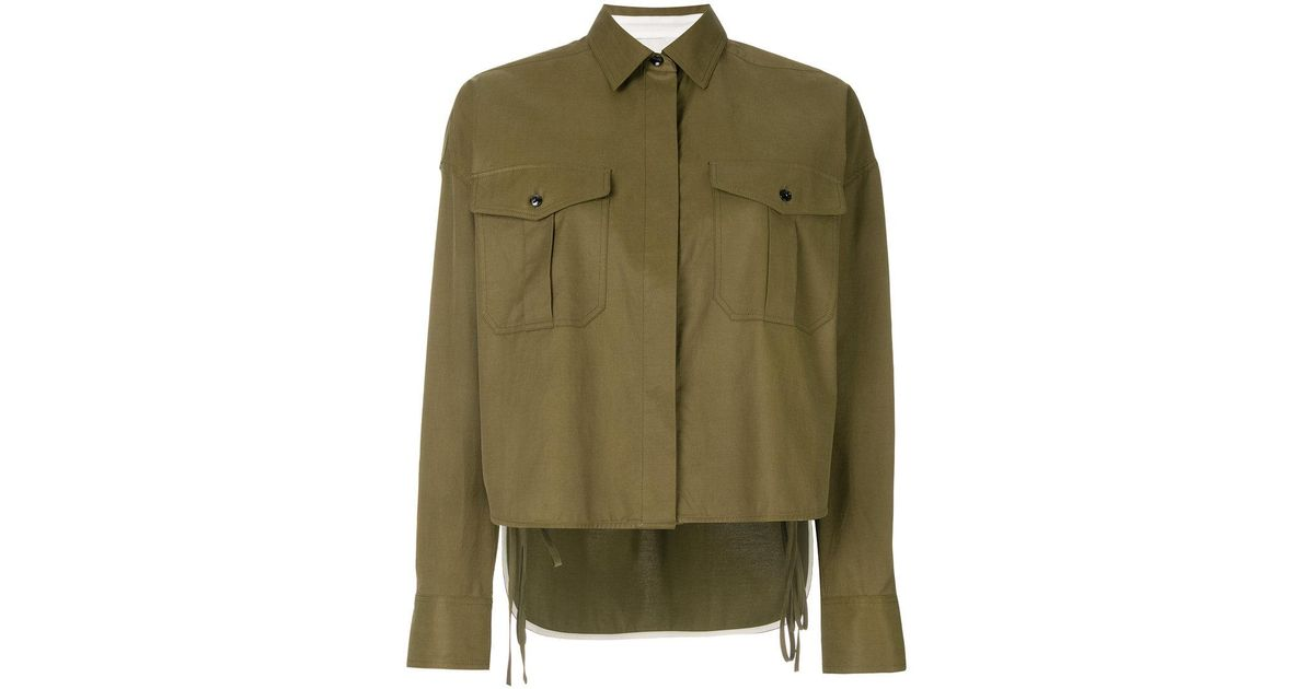 Cheap For Sale high low cropped shirt - Green Rag & Bone Super Specials Buy Cheap Brand New Unisex 8e1882W