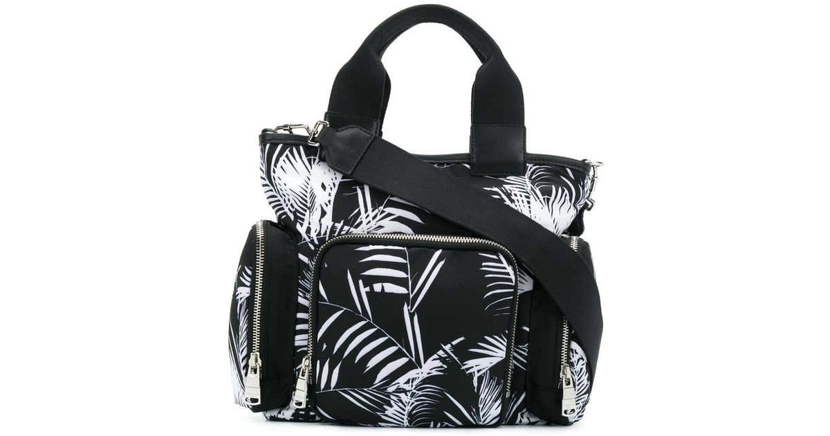 palm print east-west tote - Black Sonia Rykiel Outlet 2018 New fWUD8EqW61
