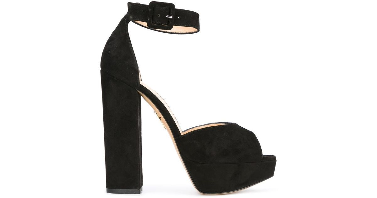 Eugenie rainbow heel sandals - Black Charlotte Olympia MJXy9