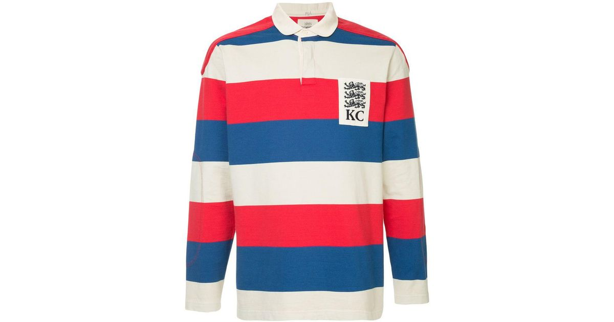 7b1d7a5d2 Kent & Curwen Striped Rugby Polo Shirt in Red for Men - Lyst