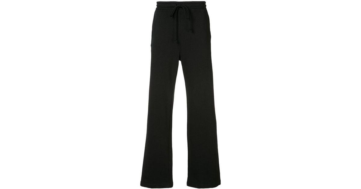 Black bootcut sweatpants