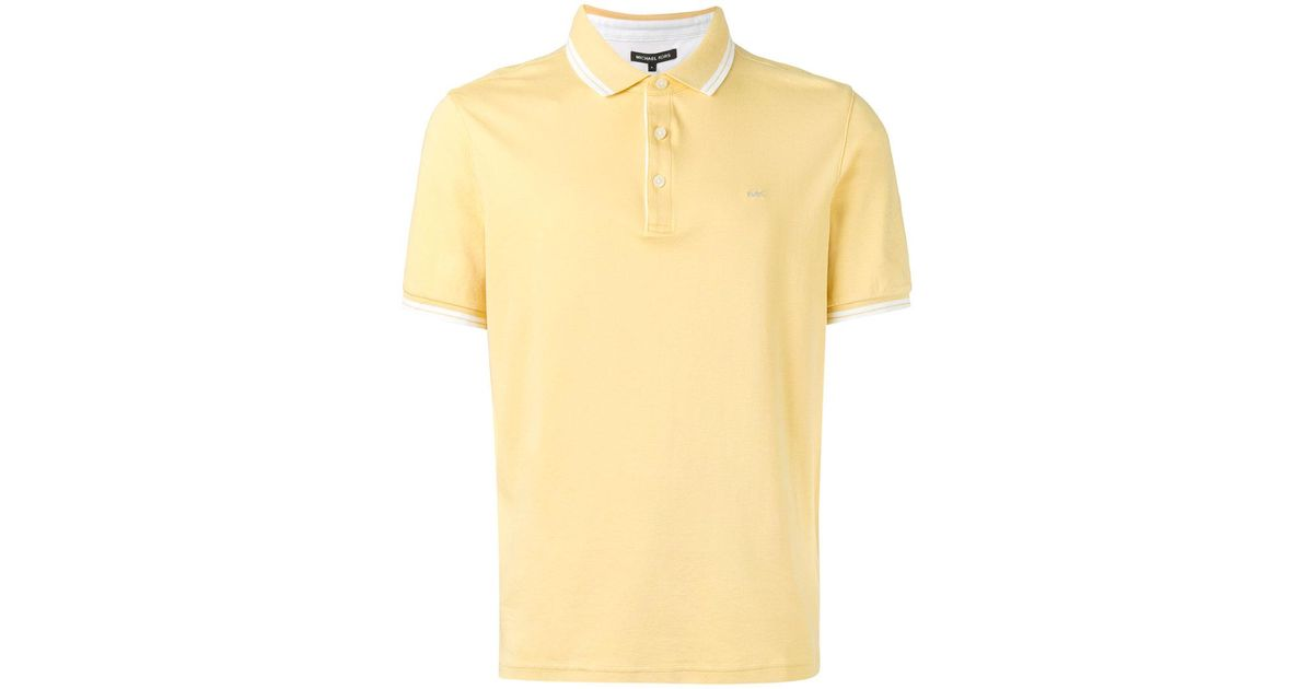 10f71d1d Lyst - Michael Kors Classic Polo Shirt in Yellow for Men