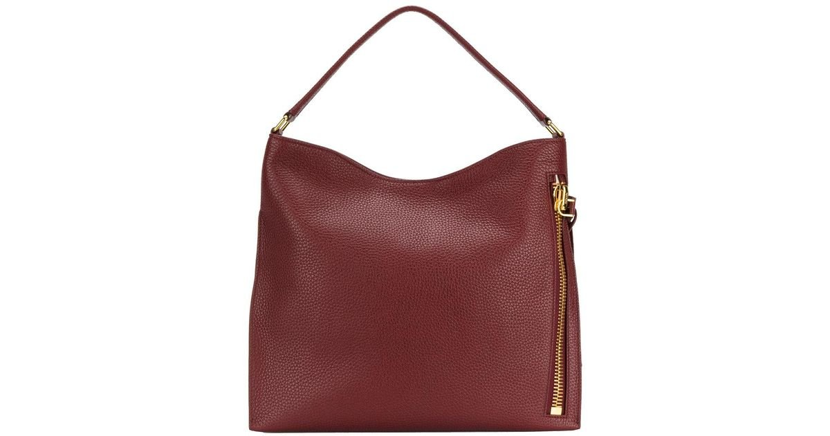 8d5ee5529923 Lyst - Tom Ford Alix Hobo Tote Bag in Red