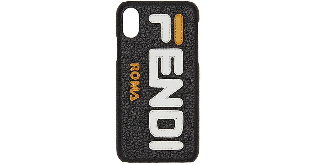3fa5e571e3a2 Lyst - Fendi Mania Iphone X Case in Black
