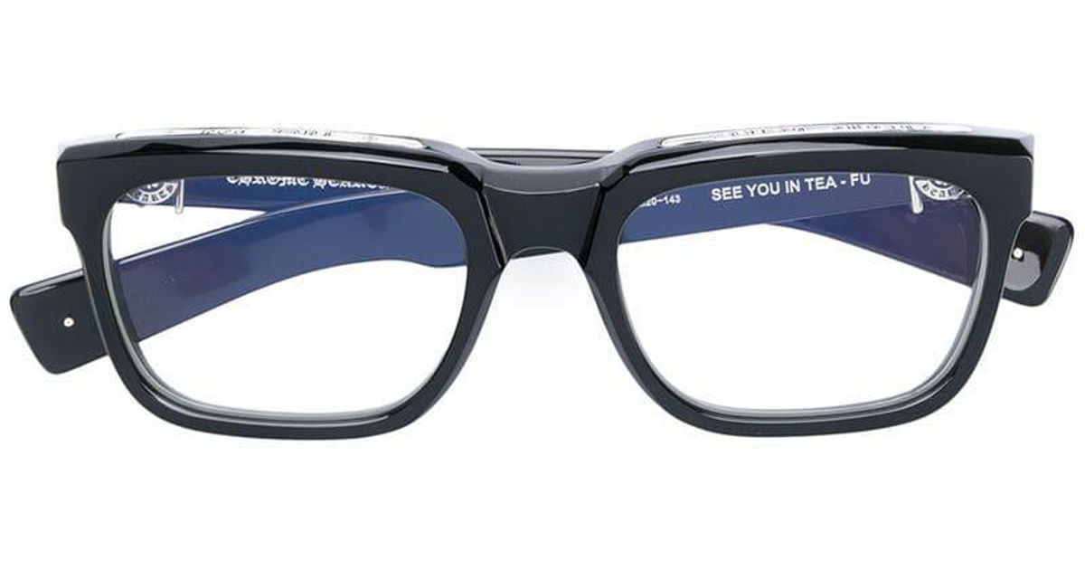 2a7316b69bbd Chrome Hearts See You In Tea- Fu Glasses in Black for Men - Lyst