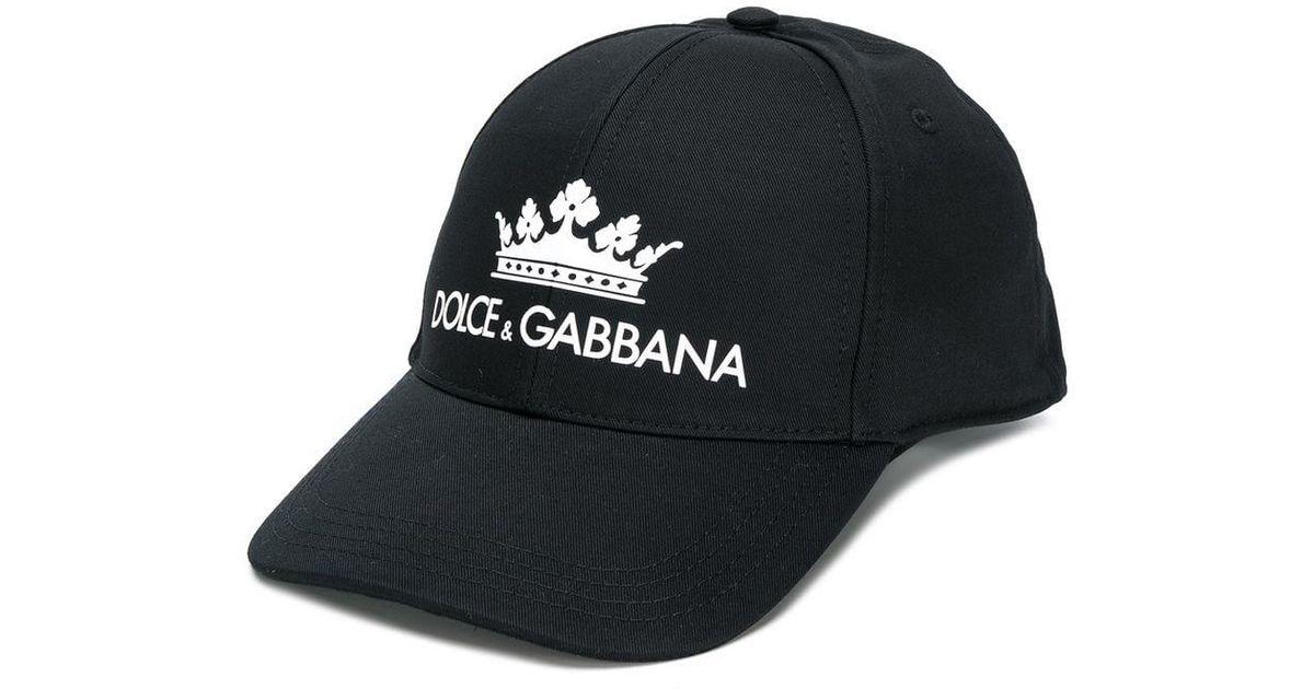 c0208b322d4db Lyst - Gorra con corona estampada Dolce   Gabbana de hombre de color Negro