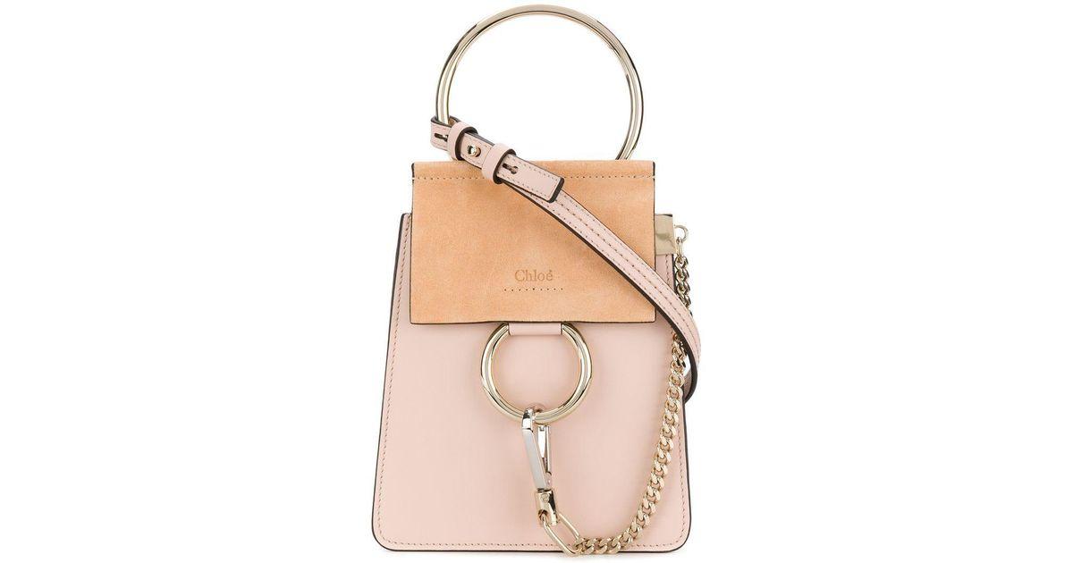 Chloé Pink Faye Coloris En Mini À Bandoulière Sac Bracele mN08nwOv