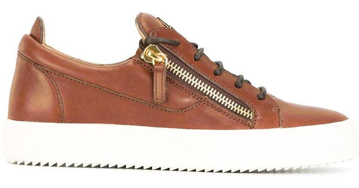 8bdc3997802f4 Giuseppe Zanotti Frankie Low-top Sneakers in Brown for Men - Lyst