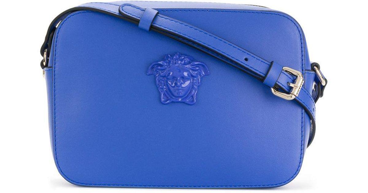 651d8d31de6 ... Versace Medusa Palazzo Camera Bag in Blue - Lyst timeless design 37749  6a76f ...