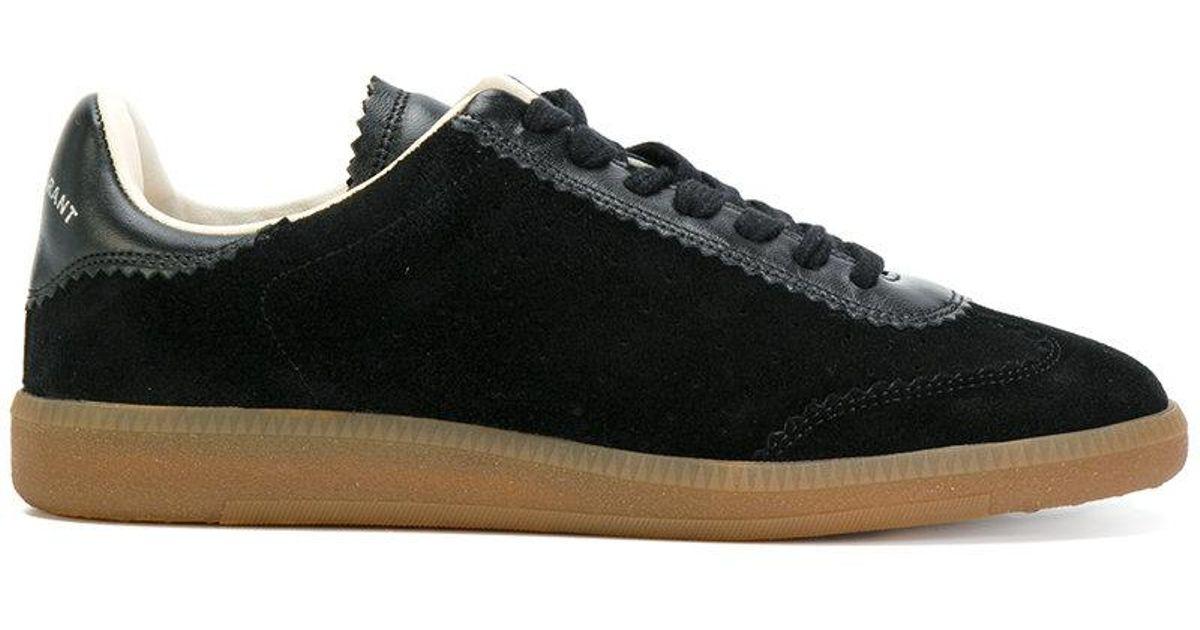 Isabel Marant Bryce Baskets Vintage Velours Noir - Qp5jtag2
