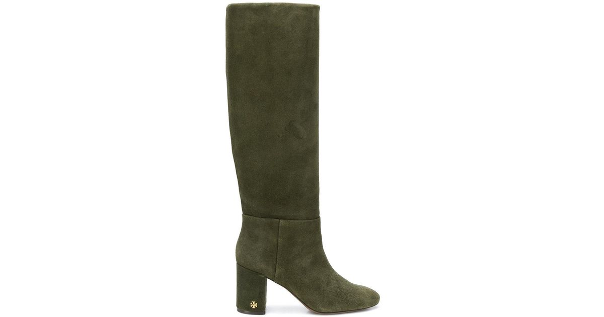 aaa384501b70 Lyst - Tory Burch Brooke Slouchy Boots in Green - Save 7%