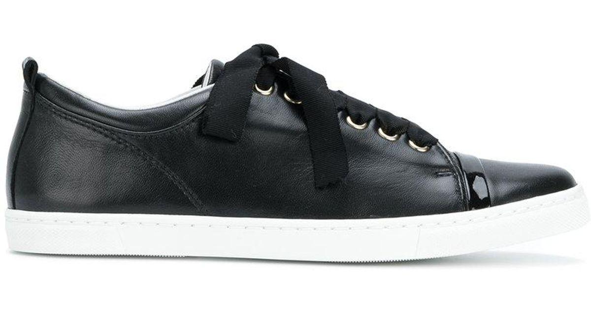 classic low top sneakers - Black Lanvin SzYMfr8nDG
