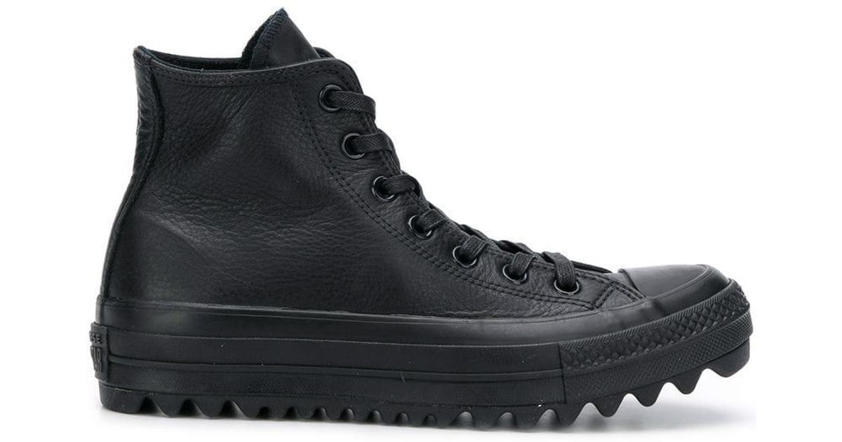 39e5d29801d047 Lyst - Converse Chuck Taylor Leather Sneakers in Black for Men