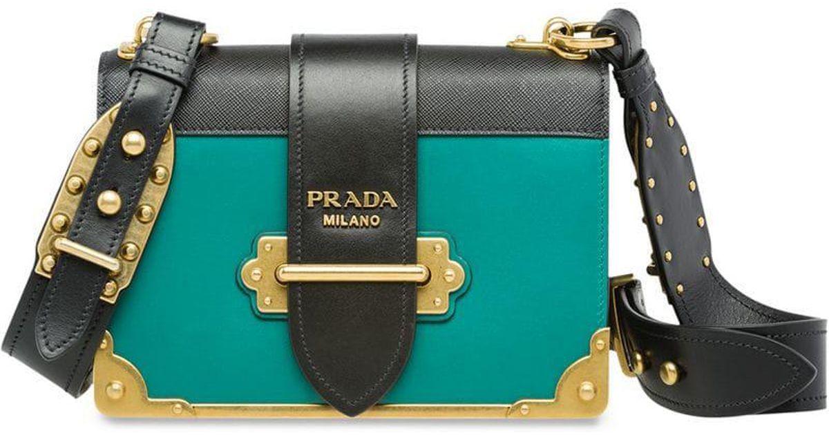 1f566c8c36796 Lyst - Prada Cahier Bag in Green