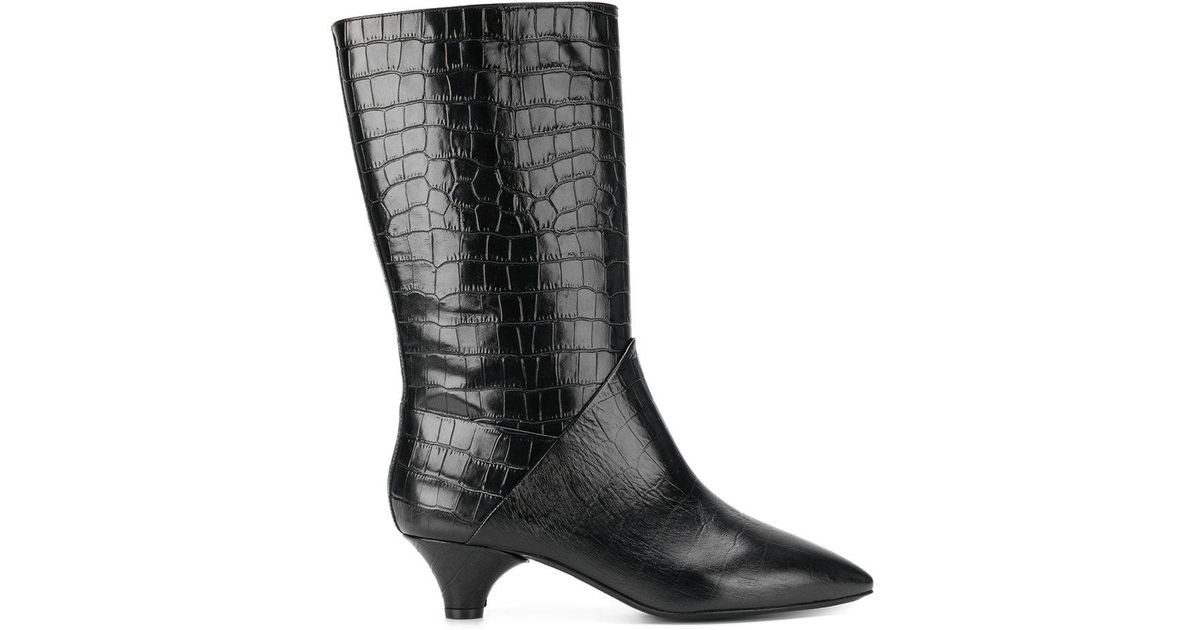 Buy Cheap How Much crocodile-effect boots - Black Marni Get To Buy Sale Big Discount Free Shipping Classic U5aB5K