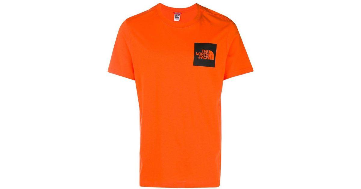 e4db81e6b The North Face - Orange Logo Print T-shirt for Men - Lyst