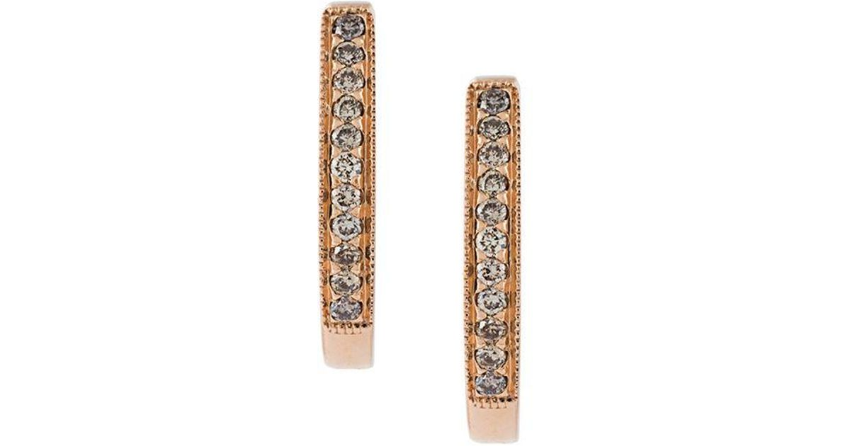 Wouters & Hendrix 18kt gold champagne diamond hoop earrings - Metallic splUgA1TS