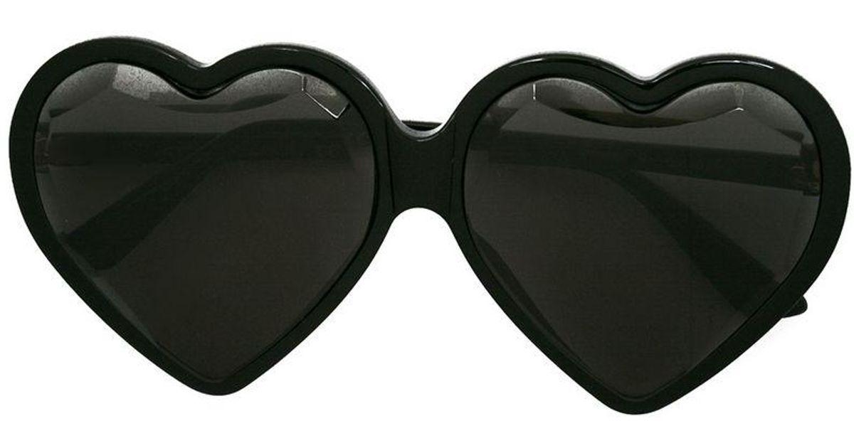 55e4cc0b468 Gucci Specialized-fit Heart Frame Sunglasses in Black - Lyst